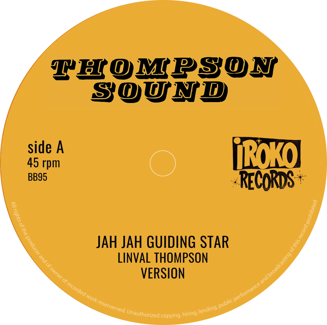 LINVAL THOMPSON Jah Jah Guiding Star / Cool Down Your Temper